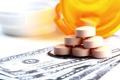Costi del farmaco Fotografia Stock