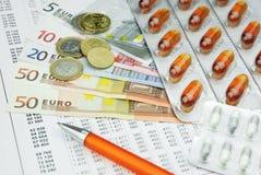 Costi della sanità Immagine Stock