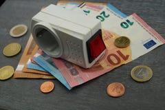 Costi di elettricità costosi fotografia stock