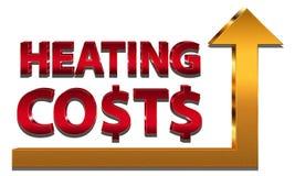 Costi di riscaldamento crescenti Fotografia Stock Libera da Diritti