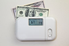 Costi di riscaldamento domestico Immagini Stock Libere da Diritti