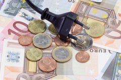 Costi energetici fotografia stock