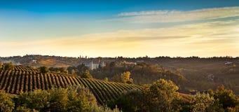 Costigliole d'Asti (山麓,意大利) 免版税库存照片