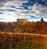 Costigliole d'Asti (山麓,意大利) 库存照片