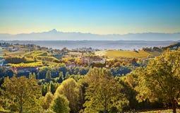 Costigliole d'Asti (Piedmont, Italy): landscape Stock Photo