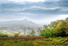 Free Costigliole D`Asti Piedmont- Italy: Landscape Of Vine And Grap Stock Photography - 126184352