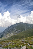 Costila mountain. View of Costila mountain from Bucegi,Romania Royalty Free Stock Images