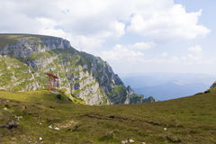 Costila mountain. View of Costila mountain from Bucegi,Romania Royalty Free Stock Image