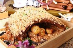 Costillas chinas de la carne asada del alimento del cerdo Fotografía de archivo
