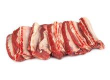 Costillas de carne de vaca crudas Foto de archivo libre de regalías