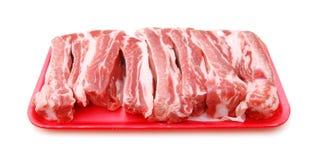 Costillas de cerdo sin procesar imagen de archivo libre de regalías