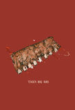 Costillas del Bbq Chuletas de cerdo asadas a la parilla El color asado a la parrilla provee de costillas bosquejo Imágenes de archivo libres de regalías