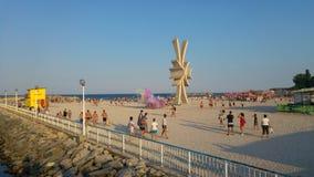 Costinesti beach - Romania. Beach activities , color run fun Royalty Free Stock Photography