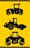 costipatori Macchine della costruzione pesante Vettore Fotografia Stock Libera da Diritti