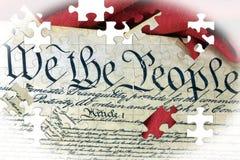 Costituzione americana e bandiera degli Stati Uniti royalty illustrazione gratis