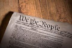 Costituzione di Stati Uniti Fotografie Stock