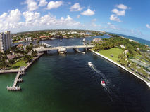 Costline de vue aérienne de la Floride Image libre de droits