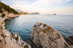 Costline and Sea View near Petrovac Royalty Free Stock Image