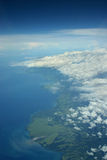 Costline tópico norteño de Papua Nueva Guinea Imagenes de archivo