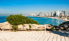 Tel-Aviv coastline view Royalty Free Stock Photos