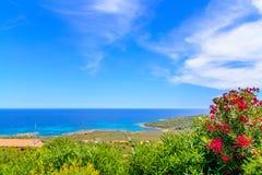 Costlinen i Sardinia Arkivfoton
