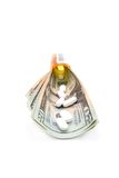 Costly. Pills bottle and money concept royalty free stock photos