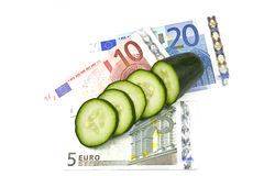 Costly cucumbers. Costly E.coli outbreak in Europe where cucumbers where blamed for the scare stock images