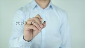 Costo de Горючий, цена сочинительства топлива в испанском языке на стекле видеоматериал