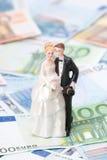 Costo de la boda Imágenes de archivo libres de regalías