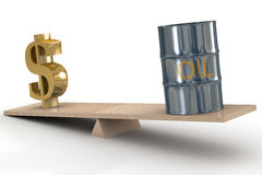 Costo degli stock di olio. Fotografia Stock