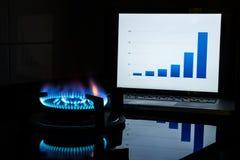 Costo del carburante crescente Immagine Stock Libera da Diritti