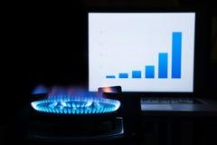 Costo del carburante crescente Immagini Stock Libere da Diritti