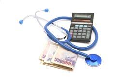 Costo del farmaco Fotografie Stock