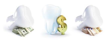 Costo del trattamento dentale Fotografie Stock