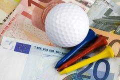 Costo di golf Fotografie Stock Libere da Diritti