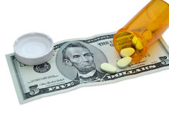 Costo di medicina Fotografia Stock Libera da Diritti
