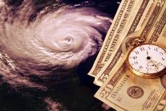 Costo di un uragano immagini stock