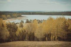 Costo di vista panoramica del lago Braslav belarus Fotografie Stock Libere da Diritti