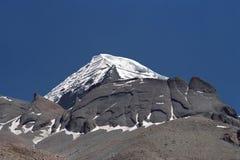 Costola di nord-ovest del Monte Kailash sacro immagine stock