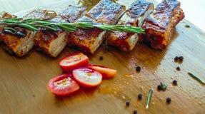 Costole di carne di maiale Fotografie Stock