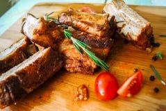 Costole di carne di maiale Immagine Stock
