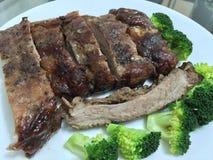 Costole di carne di maiale Fotografia Stock