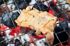Costole di carne di maiale arrostite Immagine Stock