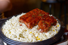 Costole di carne di maiale coreane Fotografie Stock Libere da Diritti