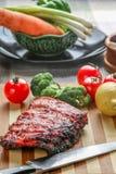 Costole di maiale cinesi del BBQ immagine stock