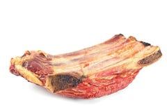 Costole e carne di carne di maiale affumicate Fotografie Stock Libere da Diritti