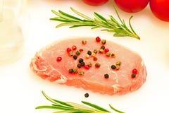 Costoleta crua da carne de porco Imagem de Stock Royalty Free