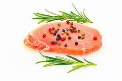 Costoleta crua da carne de porco Fotografia de Stock Royalty Free