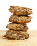 Costoletas fritadas da carne Imagens de Stock Royalty Free