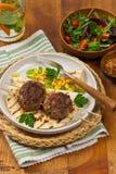Costoletas ou rissóis da salsicha Foto de Stock